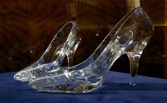 cinderella shoes high heals heals glass heals