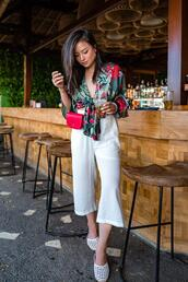 the fancy pants report,blogger,top,pants,tie-front top,white pants,summer outfits