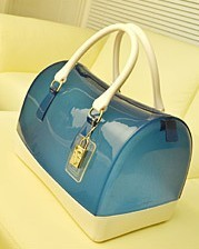 women handbag 2013 high quality fashion candy color jelly bag transparent beach pillow bag pink gold yellow blue 22COLOR-in Totes from Luggage & Bags on Aliexpress.com