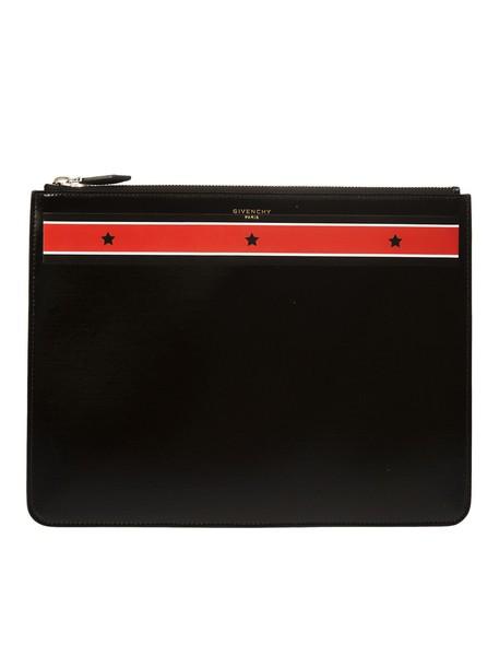 Givenchy clutch stripes print stars black red bag