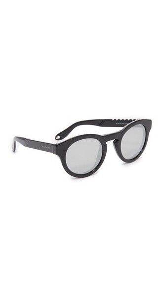 studded sunglasses mirrored sunglasses silver black