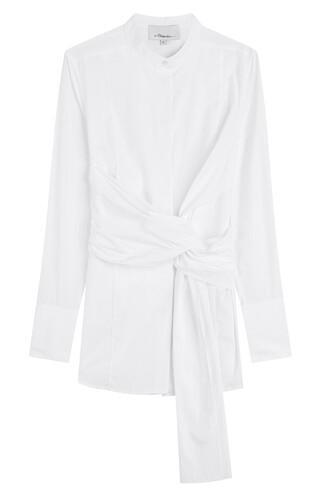 blouse draped cotton white top