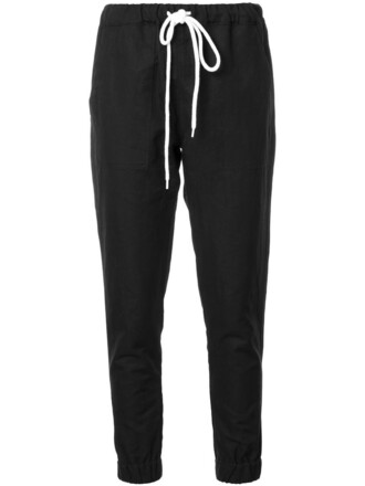 sweatpants women cotton black pants