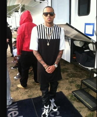 striped shirt chris brown fashion style swag dope urban outfitters