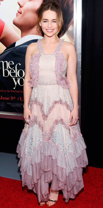 dress emilia clarke gown lace dress asymmetrical dress asymmetrical sandals
