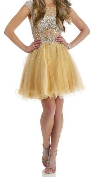 gold sequins dress prom dress prom