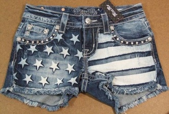 shorts denim american flag shorts