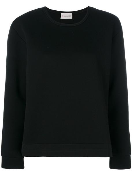moncler sweatshirt back women black sweater
