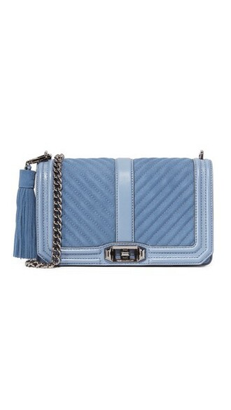 cross tassel love bag blue