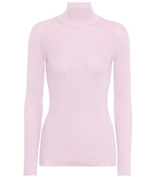 Prada sweater turtleneck turtleneck sweater silk wool pink