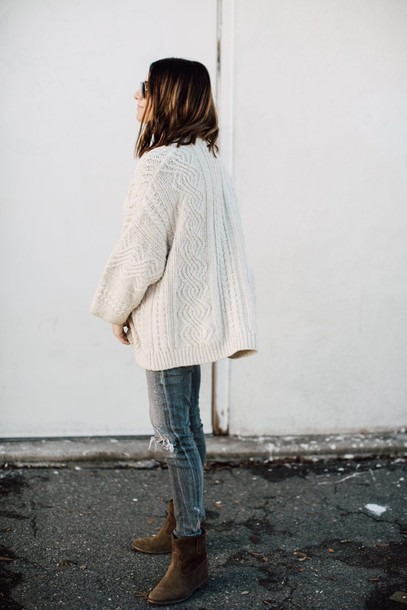 Sweater Tumblr White Sweater Cable Knit White Cable Knit Sweater