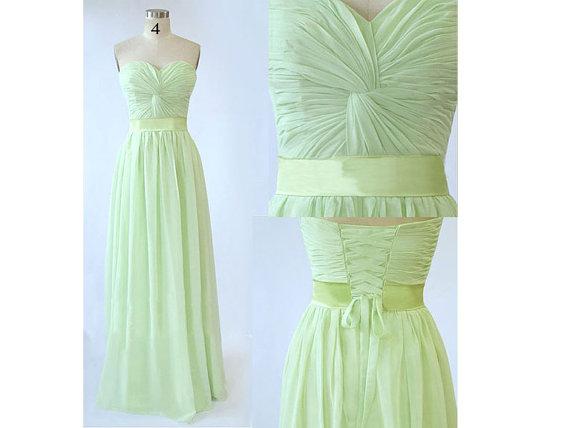 Stunning chiffon bridesmaid dress sweetheart by onlyudress on etsy