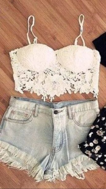 top lace top floral crop top