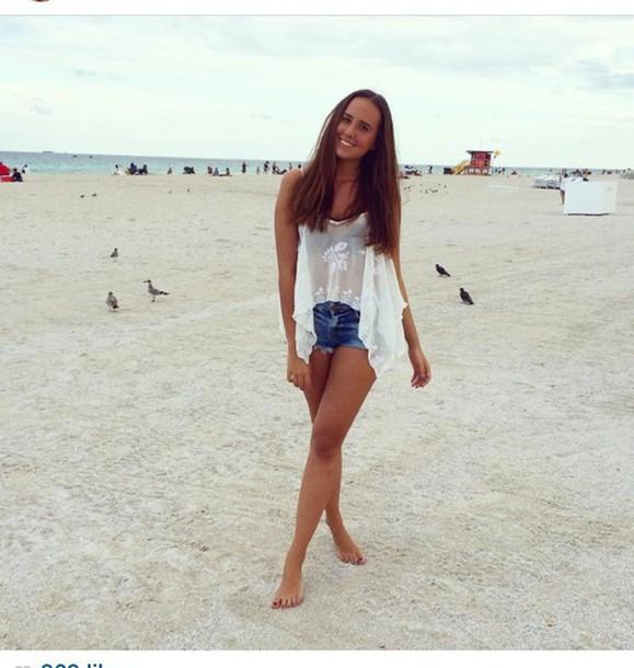 top bershka lace top lace top white top white t-shirt white tank top summer top beach