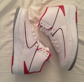 shorts jordan's white red