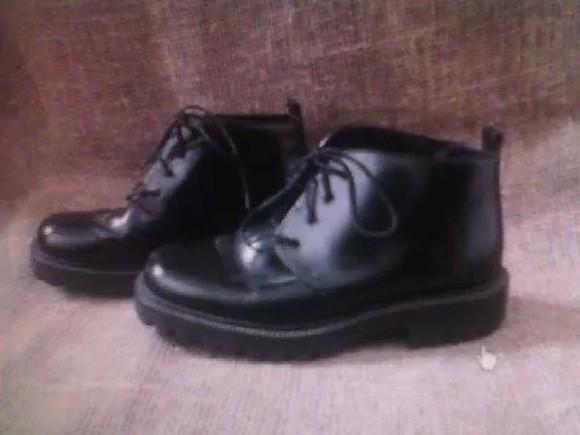 black vintage shoes