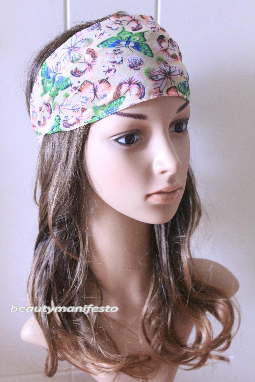 Butterfly head wrap, headband, cute hair bands, boho accessories, women's fashion hair accessories