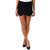 Black Asymmetrical Wrap Over Skort | Emprada