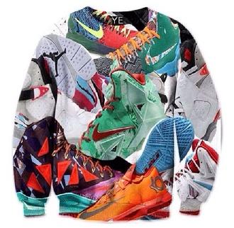 sweater crewneck crewneck sweater trendy crewnecks nikes nike sneakers sneakers shoes colorful nikes adidas air jordan graphic sweater black sweater