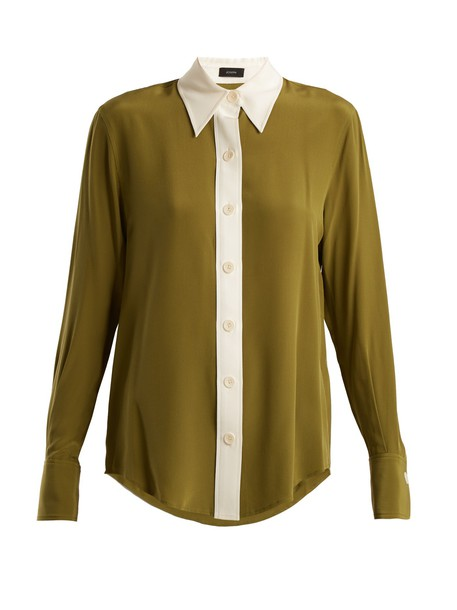 Joseph shirt silk green top