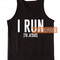 I run to jesus tank top men and women adult