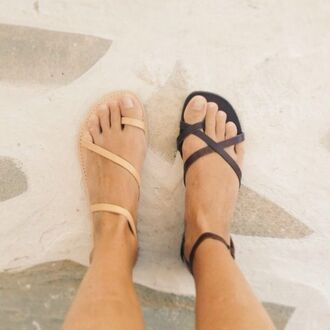 shoes nude sandals sandles greek jesus straps summer black boho minimalist shoes greek sandals nude sandals
