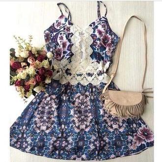 dress boho lace floral purse cute tumblr tumblr dress boho dress