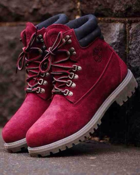Shoes: timberlands, red timberlands, red, timberland, red ...