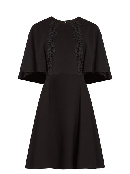 GIAMBATTISTA VALLI dress back embroidered lace black