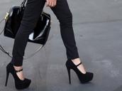 black heels,high heels,black shoes,shoes,blouse,cute high heels,nice,sexy dress,black dress
