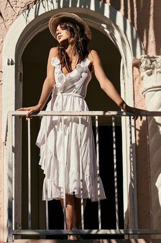 dress white dress little white dress ruffle dress white ruffles boho dress dressofgirl boho boho chic revolve clothing maxi dress maxi white maxi dress