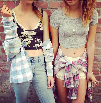 tank top crop tops flannel flowers black cute weheartit jeans lace shorts beautiful
