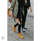 jacket,green,sweater,camouflage,girl,fashion,pretty,style,cute,love,swag,timberland,adidas,nike