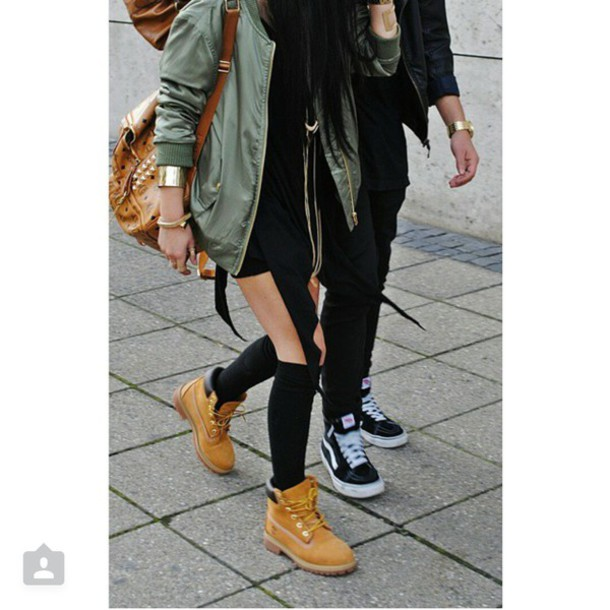 jacket green sweater camouflage girl fashion pretty style cute love swag  timberland adidas nike
