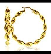 home accessory,gold,earrings,hoop earrings
