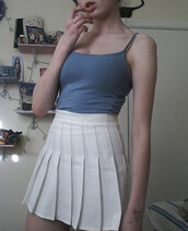 skirt,hem,pleated,pleated skirt,tennis skirt,dress,blackfive,vest,white,top,bottoms,clothes,outfit,cute,bralette,fashion,beautiful,sexy,girly