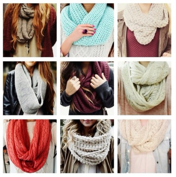 scarf white scarf cute knitted scarfs infinite scarf fall burgundy warmth neck warmer grey scarf beige scarf orange scarf