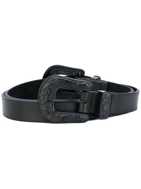 double buckle belt belt black