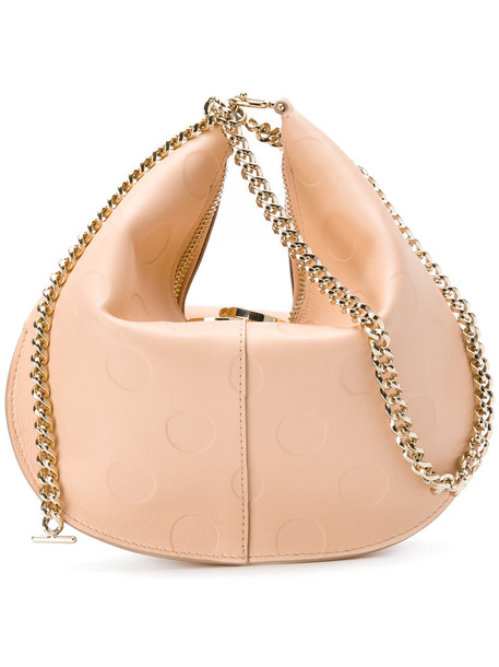 NINA RICCI women bag leather nude