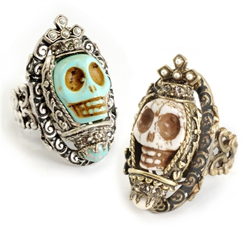 Sweet Romance™ Ollipop Queen Skull Ring