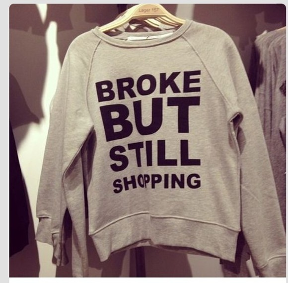 sweater shopping broke words