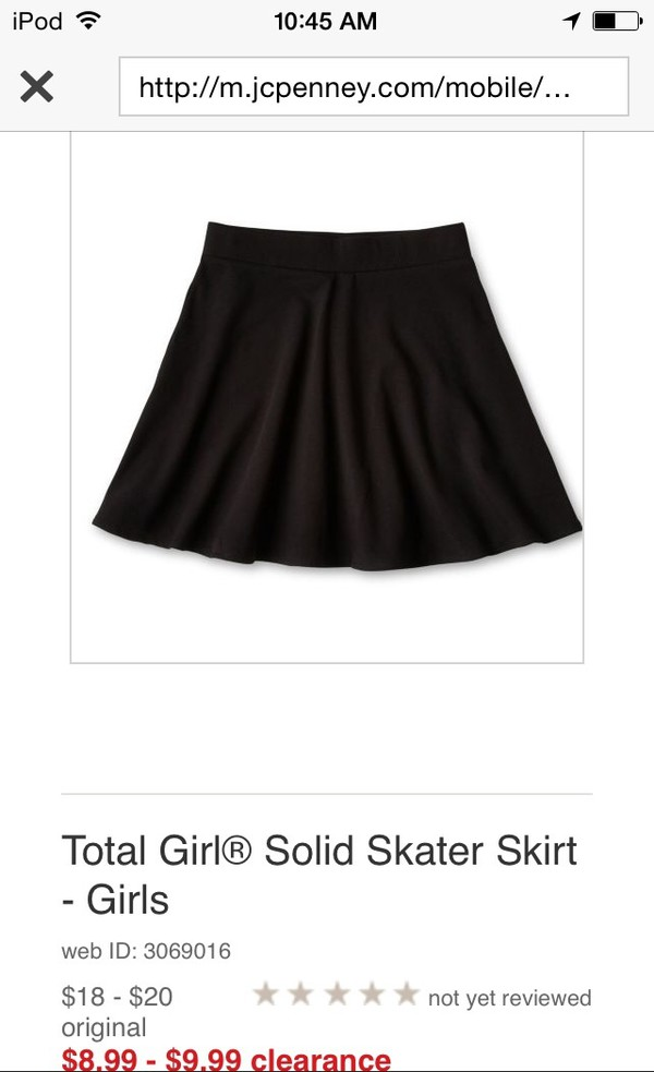 skirt jcpenny skater skirt