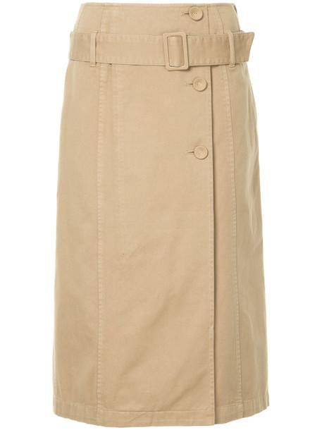skirt women cotton brown