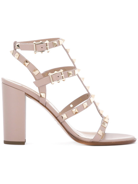 Valentino women sandals leather nude shoes