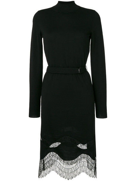 dress lace dress women turtle lace black wool