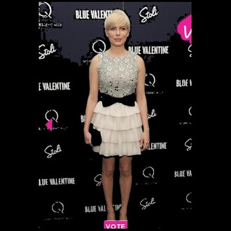 michelle williams tutu ruffle bow dress