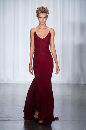 Zac Posen Spring 2014 RTW Spaghetti-Strap Gown