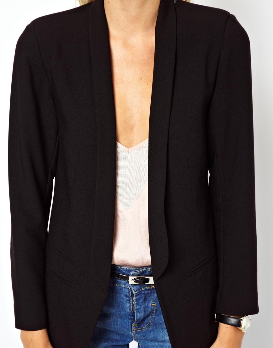 ASOS Suit in Black Crepe at asos.com