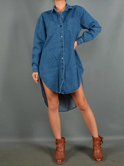 Kylie denim oversized button up