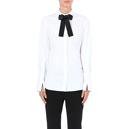 ALEXANDER MCQUEEN - Bow-tie cotton shirt | Selfridges.com